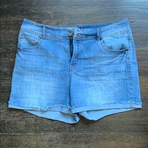 Style & Co. Cuffed Denim Shorts